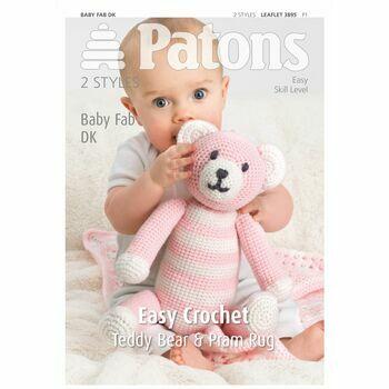 Patons Baby Fab DK Crochet Teddy Bear Leaflet (3895)