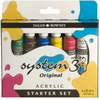 Daler Rowney System 3 Original Acrylic Starter Set