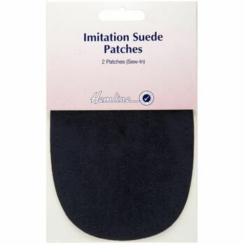 Hemline Sew-In Imitation Suede Patches - Navy