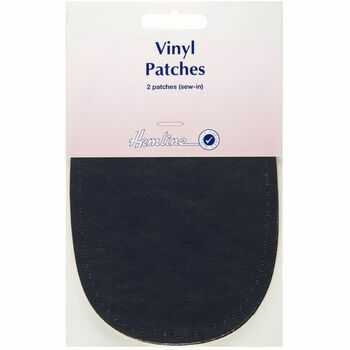 Hemline Sew-In Vinyl Patches - Navy