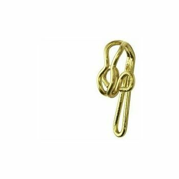 Pack of 30 Rufflette Brass R7 Curtain Hooks