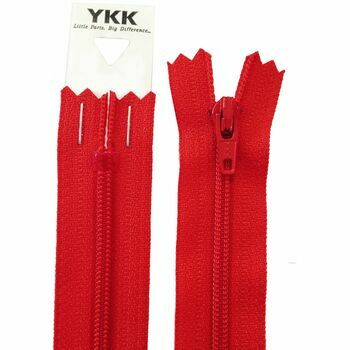 YKK Nylon Dress & Skirt Zip - Red (15cm)