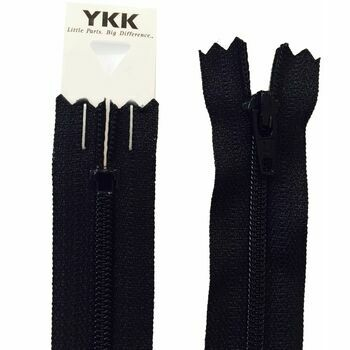 YKK Nylon Dress & Skirt Zip - Black (25cm)