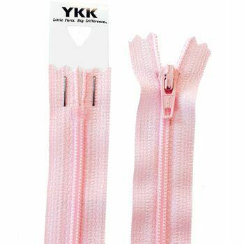 YKK Nylon Dress & Skirt Zip - Light Pink (30cm)