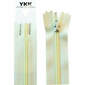 YKK Nylon Dress & Skirt Zip - Cream (36cm)