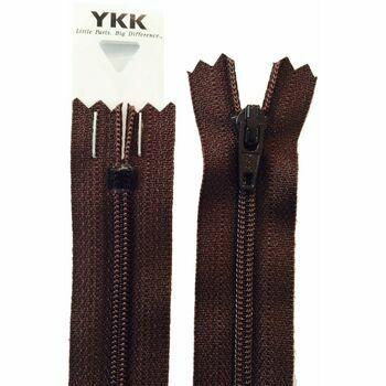YKK Nylon Dress & Skirt Zip - Brown (41cm)