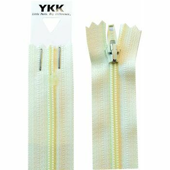 YKK Nylon Dress & Skirt Zip - Cream (46cm)