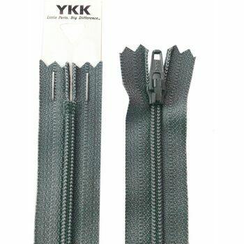 YKK Nylon Dress & Skirt Zip - Dark Grey (46cm)