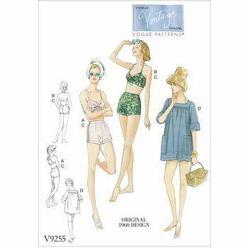 Vogue Pattern V9255 - Vintage Swimwear Pattern