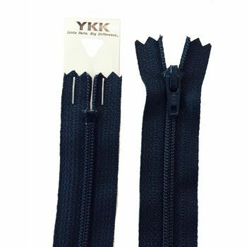 YKK Nylon Dress & Skirt Zip - Dark Navy (56cm)