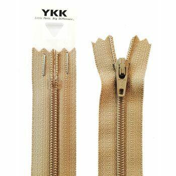 YKK Nylon Dress & Skirt Zip - Fawn (56cm)