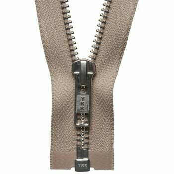 YKK Nickel Free Metal Open End Zip - Fawn (61cm)
