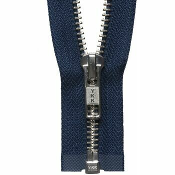 YKK Nickel Free Metal Open End Zip - Navy (61cm)
