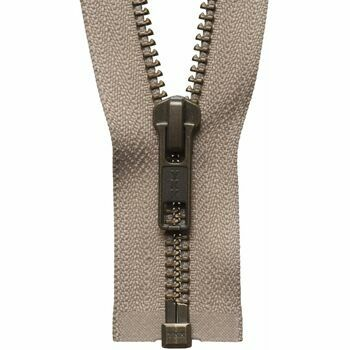 YKK Strong Metal Tooth Open End Zip - Fawn (71cm)