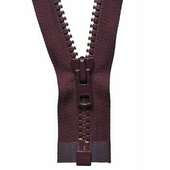 YKK Vislon Heavyweight Open End Zip - Burgundy (56cm)