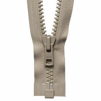 YKK Vislon Heavyweight Open End Zip - Fawn (61cm)