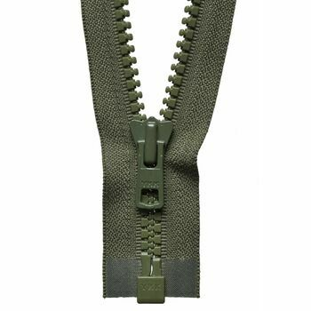 YKK Vislon Heavyweight Open End Zip - Khaki (71cm)