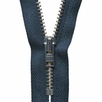 YKK Metal Trouser Zip - Dark Navy (18cm)