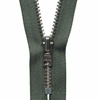 YKK Metal Trouser Zip - Spruce Green (18cm)