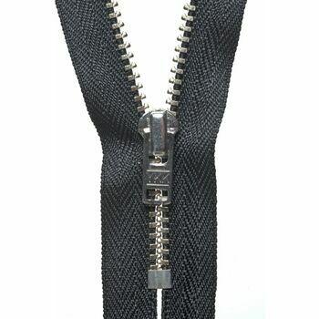 YKK Metal Trouser Zip - Black (20cm)