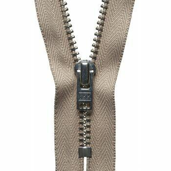 YKK Metal Trouser Zip - Fawn (20cm)