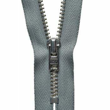 YKK Metal Trouser Zip - Mid Grey (20cm)
