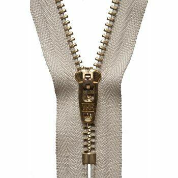 YKK Brass Jeans Zip - Beige (15cm)