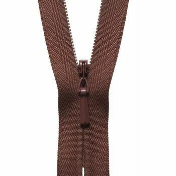 YKK Concealed Zip - Russet (20cm)