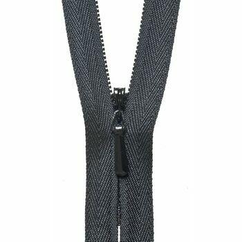 YKK Concealed Zip - Black (56cm)