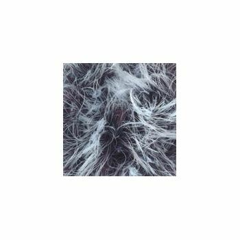 Brett - Faux Fur - Rust and White - 100g