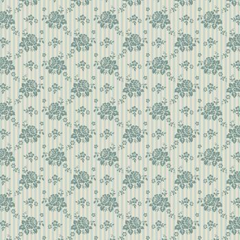 Tilda Quilt Collection: Spring Diaries: Emily: Teal: Fat Quarter