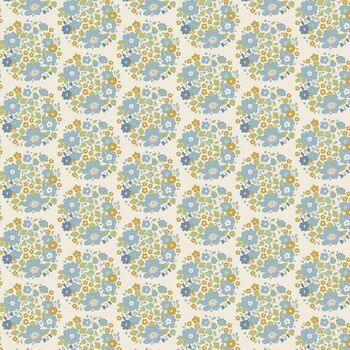 Tilda Qulit: Bumblebee: Flower Nest - Blue: Fat Quarter
