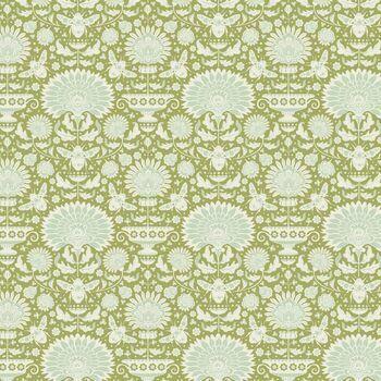 Tilda Quilt: Bumblebee: Garden Bees - Green: Fat Quarter