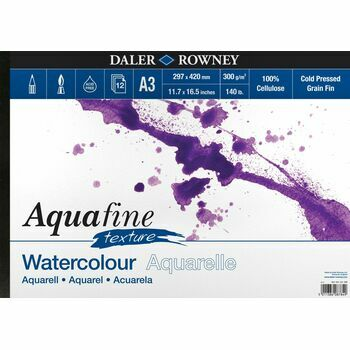 Aquafine Texture Watercolour Pad A3