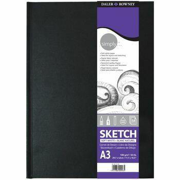 Daler Rowney Simply Sketch A3 Hardback Sketch Book