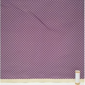 Polka Dot Plum: 100% Cotton