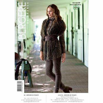 Bergere de France Fur Stole Shawl Body Wrap Pattern -42669