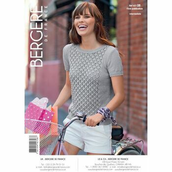 Bergere de France Lacy Summer Shell Pattern -42708 - Knitted T-Shirt