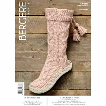Bergere de France Slipper Boots With Tassels Pattern - 42865