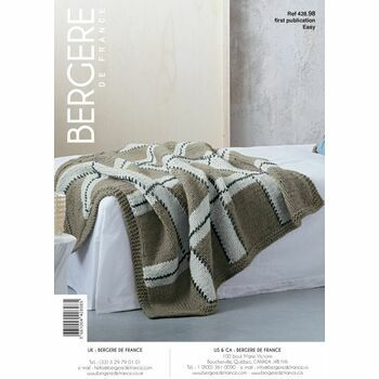Bergere de France Plaid Bed Throw Pattern - 42898