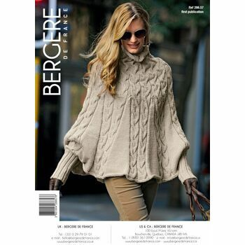 Bergere de France Cable Poncho Pattern - 28657