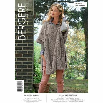 Bergere de France Cable Knit Poncho Pattern - 31222