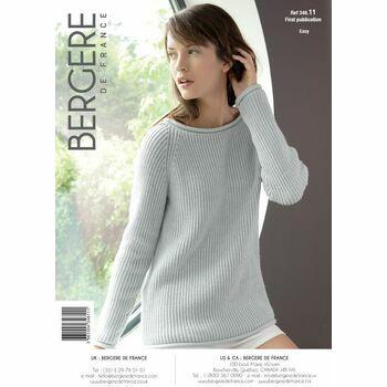 Bergere de France Rolled Edge Sweater Pattern - 34611