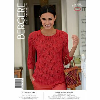 Bergere de France OPENWORK SWEATER PATTERN - 42719