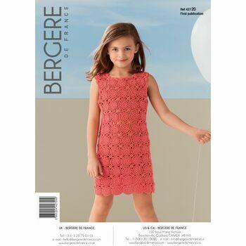 Bergere de France Kid's CROCHET DRESS PATTERN -42720