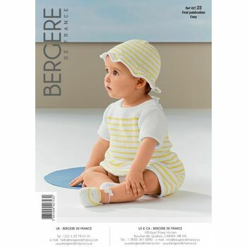 Bergere de France Baby's DRESS, HAT & BOOTEES PATTERN - 42723