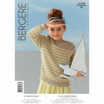 Bergere de France Children's SAILOR SWEATER PATTERN -42728