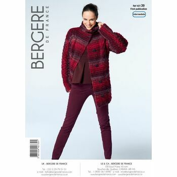 Bergere de France HIGH NECK JACKET PATTERN - 42739