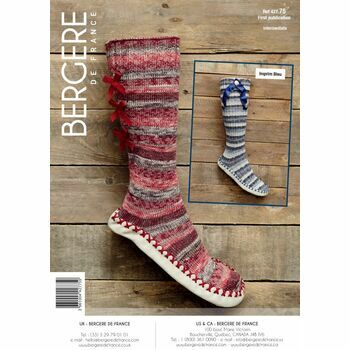 Bergere de France SLIPPER SOCKS With RIBBONS PATTERN -  42775