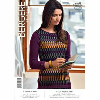 Bergere de France FAIRISLE SWEATER WITH BEADS PATTERN - 42786